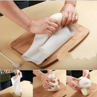 el çantası örtüleri toptan satış-DIY Silikon Pişirme Un Çanta Unu yoğurun Yapışmaz el Un Kapak Tazelik koruma paketi Ile Kravat Pasta Araçları