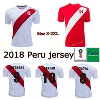 Wholesale flash custom - 2018 World Cup Peru Football Soccer Jerseys 9 GUERRERO 10 CHRISTIAN CUEVA 11 RAUL RUIDIAZ FARFAN FLORES Custom White camiseta de futbol
