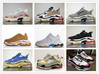 Wholesale paris design - 2018 Hot Sale INS Bal Ga FW Triple S Running Shoes Paris HOT Dad Design Shoes Men Women Casual Sneakers