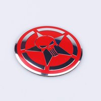 автомобильные шасси оптовых-4 шт. / лот 56 мм прохладный Каратель логотип автомобиля рулевое колесо центр автомобиля стикер Hub Cap эмблема знак отличительные знаки символ стайлинга автомобилей