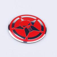 logos de coche para volante al por mayor-4 unids / lote 56mm Cool Punisher Logo Rueda de la rueda del coche del Centro Etiqueta engomada del coche Hub Cap Emblema Insignia Calcomanías Símbolo Car styling