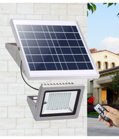 Wholesale high power floodlights resale online - Solar Floodlight W W W W High Power LED Security Light Waterproof Solar Garden Lamp with Remote Light Control For Path Outdoor
