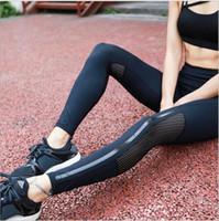 pantalon de danse en nylon achat en gros de-fitness gym leggings pantalons taille haute femmes sport leggings pantalons de yoga élastiques creuse Design Dancing Tights Pantalons KKA5128