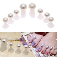 Wholesale nail separators - Newest Silicone Toe Separators Home and Salon Toes Orthotics Foot Toe Spacers Orthopedic Cushion Pedicures DIY Nail Tools