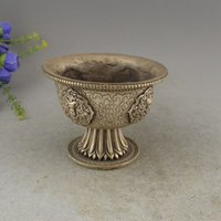 Wholesale antique china marks - Marked China Miao Silver Small Bowl Tea Cup Statue Set Bowls Antique