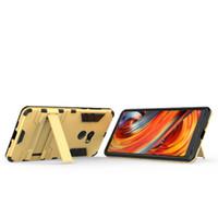 сочетание телефона оптовых-Новый двойной слой гибридный телефон задняя крышка для Xiaomi MI MIX 2 Case PC+TPU жесткий прочный броня для Xaomi MI MIX2 Cases стенд сумки