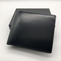ingrosso foto tasche-Portafogli in pelle corta portafoglio da uomo in pelle di lusso popolare Portafoglio MB portafogli in carta di credito porta carte di credito foto M B BOX portafoto