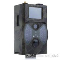 cámara gprs remota al por mayor-HC300M 940NM Cámara de visión nocturna por infrarrojos 12M Cámara Digital Trail Soporte de control remoto 2G MMS GPRS GSM para Caza TB