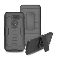 zte lâmina caso difícil venda por atacado-Armor Impact Hybrid Hard Case Capa + Clipe de Cinto Coldre Kickstand Combo à prova de choque casos para ZTE Blade X Max Grande X4 Tempo N9131