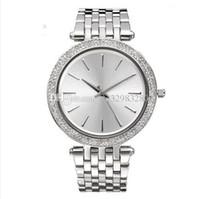 Wholesale Crystals Diamond Rhinestones Watch - ultra thin Fashion designer women watches diamond 2017 luxury brand Silver Crystal Rhinestone minimalist white dial wristwatch Steel strip