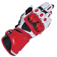 Wholesale Genuine Leather Gloves Wholesale - 4 Colors GP PRO Motorcycle Long Gloves MotoGP M1 Racing Team Driving Gloves Genuine Leather Motorbike Cowhide Gloves freeshipping