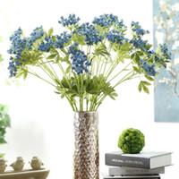 Wholesale center pieces - Artificial Lace Flower 2 Head Breath Fake Silk Flowers For Garden Wedding Center Pieces Home Party Decorative 4 5jm Y