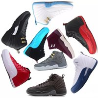 Wholesale wool dress 12 - Factory supplier Basketball shoes sneakers 12 12s Bordeaux Dark Grey wool white Flu Game UNC international pack French blue Sports dress