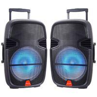 "Wholesale wholesale dj speakers - QS-3715BR Professional 15"" Party DJ Karaoke Portable Bluetooth Speaker Rechargeable Lights"