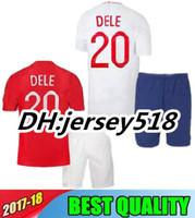 Wholesale adult jerseys - 2018 WORLD CUP KIDS soccer jersey kits ROONEY STERLING VARDY KANE DELE ADULT KIT SHORTS JERSEY Children football SHIRTS