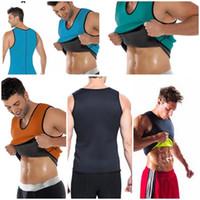 Wholesale men s slim black vest resale online - Hot Men Slimming Vest Body Shaper Neoprene Abdomen Fat Burning Shaperwear Waist Sweat Corset Weight Loss S XL