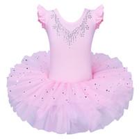leotardos de ballet rosa al por mayor-Nueva moda Pink Ballet Dress para Girs Dancewear Kids Ballet tutu Disfraces para niñas Dance Leotardo Gymnastics Girls tutu