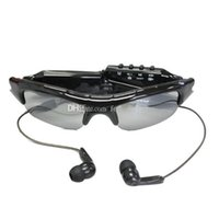 gläser video-player großhandel-Sonnenbrillen-Kamera HD tragbarer Audio-Videorecorder mit Bluetooth-MP3-Player TF-Kartensteckplatz Sonnenbrillen DVR-Sicherheitsbrille Mini-Camcorder