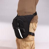 bolsa de la pierna de la motocicleta a prueba de agua al por mayor-Impermeable Gota Pierna Motocicleta Ciclismo Paquete de Fanny Cinturón Bolsa de herramientas Bolsa Equipaje exterior Deportes paquetes de cintura