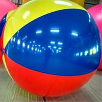 piscina inflável do mar venda por atacado-Frete Grátis PVC 3 m Multicolorido Inflável Gigante Bola de Praia Bola de Balão de Praia Inflável Mar Piscina de Água Brinquedo