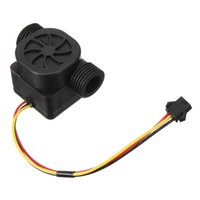 g1 sensor de flujo de agua al por mayor-Mejor Precio 1 unid G1 / 2 1-30L / min DC5V Sensor de Flujo de Agua Sensor de Flujo Hall Flow Sensor de Control de Agua 1.75MPa Contador Interruptor Para Arduino