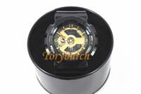 светодиодные часы подарочной коробке оптовых-2018 relogio G110 Мужские спортивные часы, светодиодные хронограф наручные часы цифровые часы, маленькие Циферблаты Нет работы, хороший подарок для мужчин мальчик с коробкой