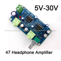 Wholesale dvd player amp resale online - Freeshipping DC V V V Classic Audio Headphone Amplifier Board NE5532 OP AMP DIY Kits