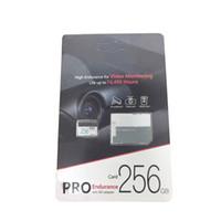 uhs ich überflute großhandel-2019 Bester Verkauf 256 GB 128 GB 64 GB 32 GB Class10 PRO Endurance TF-Speicherkarte mit freiem SD Adaptere-Blister-Paket