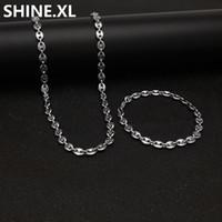 14 ayar altın bilezik zincirleri toptan satış-316L Paslanmaz Çelik Kahve Çekirdeği Zinciri 22