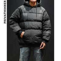 ingrosso giacche invernali giapponesi-Uomo Winter Parka Winter Jacket 2018 Mens giapponese Streetwear Bubble Coat uomo con cappuccio Hiphop Windbreaker Pullover