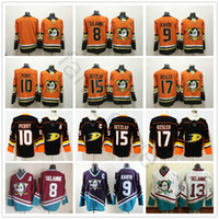 f6d00315a Anaheim Ducks Orange Black White Purple 9 Paul Kariya 10 Corey Perry 13  Teemu Selanne 15 Ryan Getzlaf 17 Ryan Kesler Hockey Jerseys