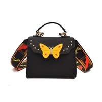 Wholesale flapping butterfly for sale - Group buy Butterfly Animal Pattern Fashion Mini Women Bags Rivets Embroidery Floral Bag Designer PU Leather Crossbody Bags Sac A Main