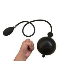 şişme oyuncak pompası toptan satış-Şişme Popo Fiş Genişletilebilir Anal Dilatör Şişirmek Anal Plug Anal Yapay Penis Hava dolu Pompası Seks Oyuncak Erkekler için Kadın Eşcinsel