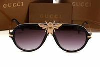 gafas de sol de diseño espejo italia al por mayor-Moda 2018 gafas de sol grandes de la abeja para las mujeres hombre italia famosos diseñadores gafas de sol gafas de moda estilo 1885 gafas sombra espejo gafas