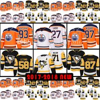 Wholesale Ryan Nugent Hopkins - 2018 New Penguins 87 Sidney Crosby Oilers 97 Connor McDavid 93 Ryan Nugent-Hopkins Jersey 58 Kris Letang Milan Lucic Evgeni Malkin Jerseys