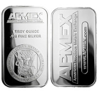 1 oz Silver Plating Art Bar Series + Fine Apmex Eagle Reverse Silver Bullion Coin Free shipping 5pcs lot 1oz No Magnetic Bar Business Gift