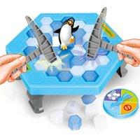 Wholesale develop board - Funny Penguin Trap Interactive Indoor Board Game Ice Breaking Save The Penguin Parent-child Table Entertainment Toys Kids Gifts