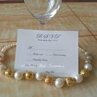 impresión de tarjetas de invitación de boda al por mayor-50PC modificó la tarjeta de RSVP de la impresión en negro para la invitación del banquete de boda