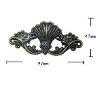 Wholesale Antique Style Furniture - Wooden Box Coner,Wine Box Protector,Embellishment Findings Flower Corners Antique Bronze Tone,Old Style,Vintage Cover,4Pcs Furniture access