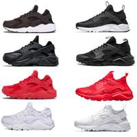 running shoes online al por mayor-Barato Huarache 1 4 IV Clásico, todo en blanco y negro, zapatos de Huaraches, hombres y mujeres, zapatillas de deporte, zapatillas, talla 36-45 en venta