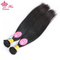 renk 32 saç örgüsü toptan satış-Perulu Düz İnsan Saç 100% Bakire Saç Örgü Demetleri 8 ila 30 inç Doğal Renk Ücretsiz Kargo Kraliçe Saç Ürünleri 2 adet / grup