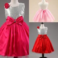 bling olayları toptan satış-2018 Yeni Çocuk Bling Noel Elbise Kız Parti Rop Küçük Prenses Kız Kostüm Çocuklar Için Giysi Bebek Doğum Günü Olaylar Durum Giymek