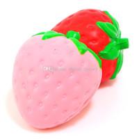 sacs d'expédition jumbo achat en gros de-Squishy jumbo à la fraise colossal jumbo simulation Fruit kawaii Squishies à croissance lente artificielle queeze jouets sac téléphone charme Fast Ship