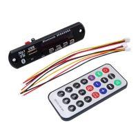 пульты дистанционного управления оптовых-Bluetooth 5 в 12 в MP3 WMA спикер декодер доска аудио модуль USB TF Радио пульт дистанционного управления для автомобиля радио Черный цвет