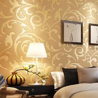kabartma duvar kağıdı toptan satış-Minimalizm 3D Duvar Kağıtları Oturma Odası Yatak Odası Arka Plan Duvar Çıkartmaları Dokunmamış Kumaş Moda Kabartma Tığ Ev Dekor Yüksek Dereceli 20ht Ww