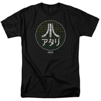 Wholesale japanese video games for sale - Atari Japanese Grid Classic Video Game Adult Men s T Shirt Black T Shirt O Neck Fashion Casual High Summer Men S fashion Tee