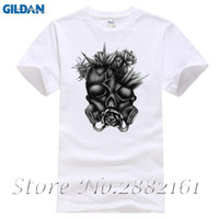 70832d184 Mens T Shirts Fashion 2017 Gas Mask Roses Skull T-Shirt - Gothic Fear  Tattoo Design Unisex Mens Gift Top