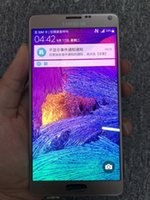 not digitizer bölümü toptan satış-Samsung Galaxy Not 4 için LCD N910 N910C N910F N910V LCD Ekran Dokunmatik Ekran Digitizer Yedek Parçalar