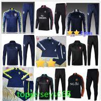 Wholesale Franceh Brasil Netherlands soccer Tracksuit Portugals jacket jogging P COUTINHO MBAPPE GRIEZMANN Football Training suit