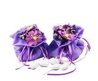 bolsas de tela de cumpleaños al por mayor-Favores de la boda y bolsa de regalo Bolsa de hilo de tela Dulces de chocolate Día de San Valentín Cordón de la envoltura de la decoración de la fiesta de cumpleaños